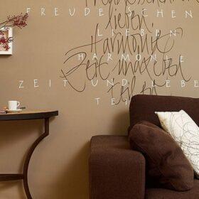 Wanddekoration mit Zitaten